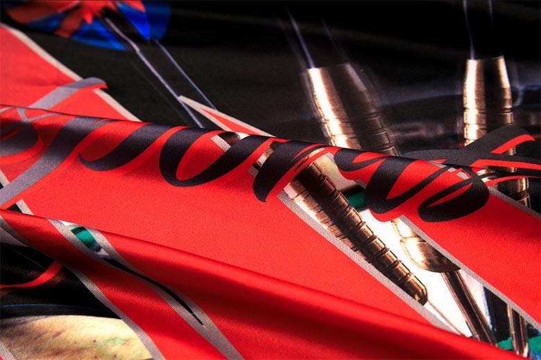 5 sublimated dart shirts Fabric