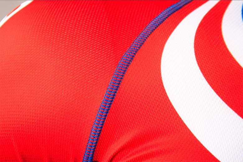 sublimated cycling jerseys Stitching