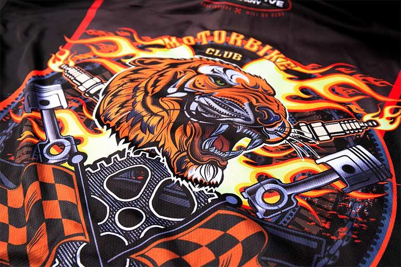 sublimated racing crew shirts Printing
