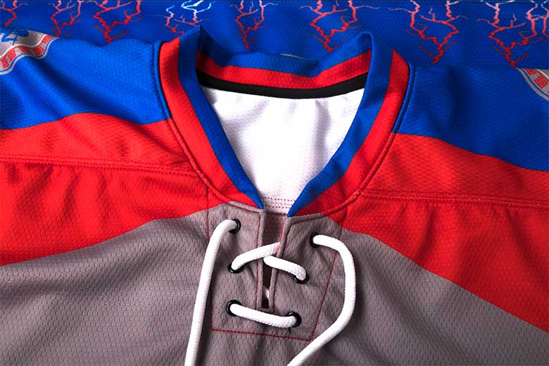 sublimated hockey jerseys Collar