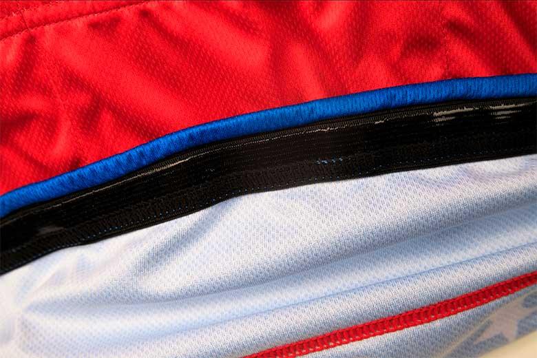 sublimated cycling jerseys Hem silicon band