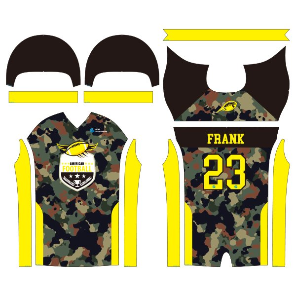 sublimated football jerseys design