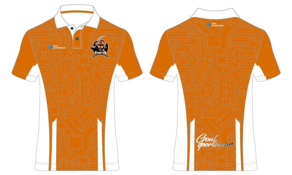 Custom 100% polyester orange short sleeve Esports polo Jerseys