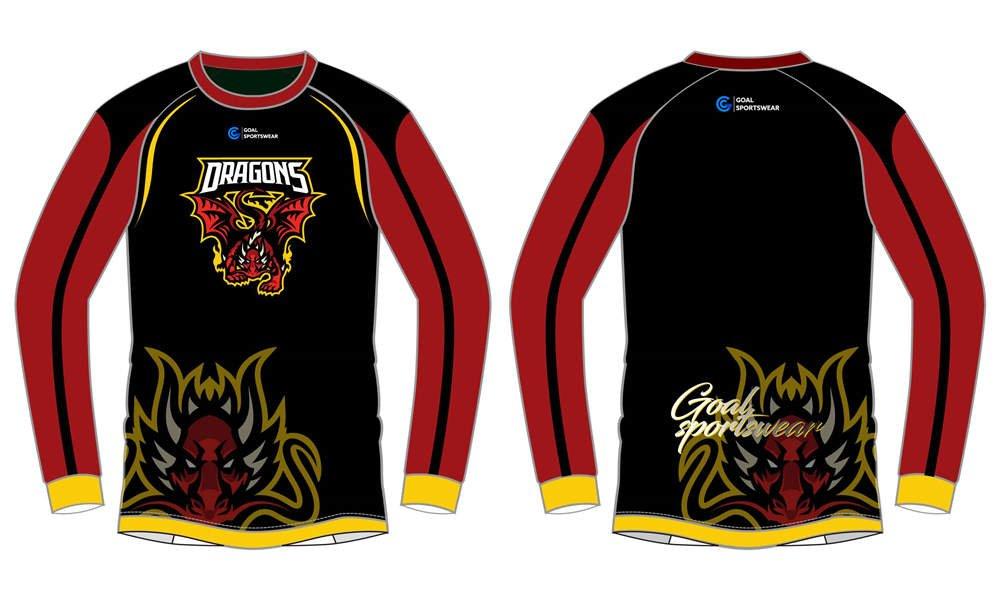 Custom breathable dragons long Gaming Esports Jerseys