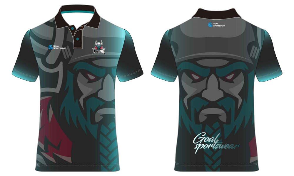 Custom design sublimated gaming Esports polo Jerseys