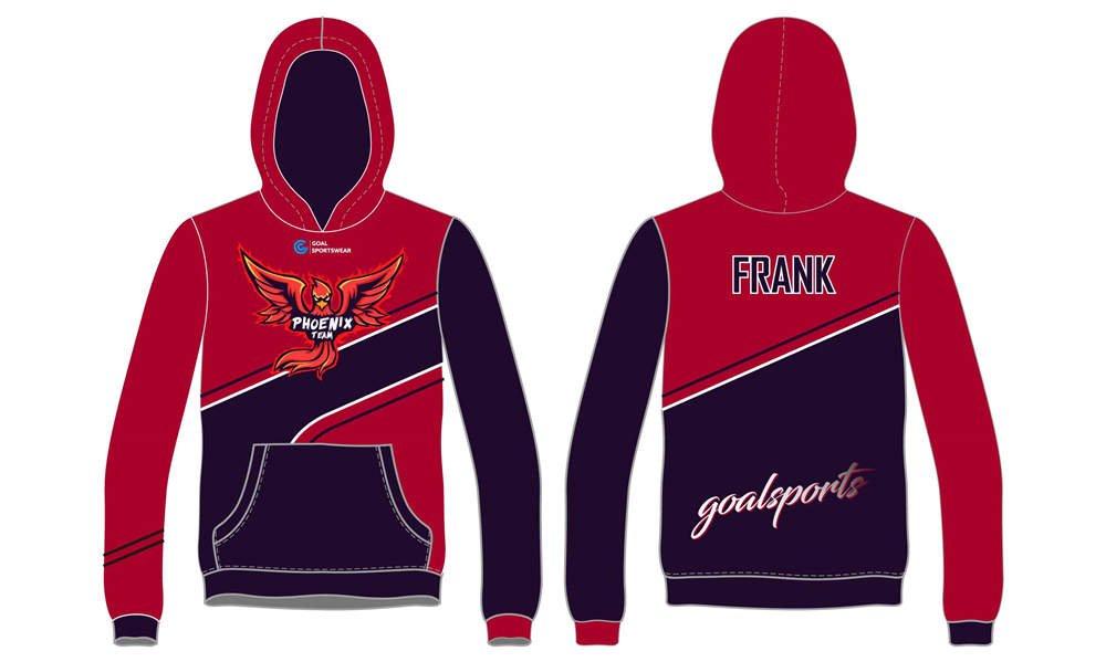 Custom made sublimation printing Esports hoodie