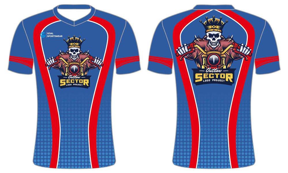 Custom sublimated short sleeve Esports T shirt
