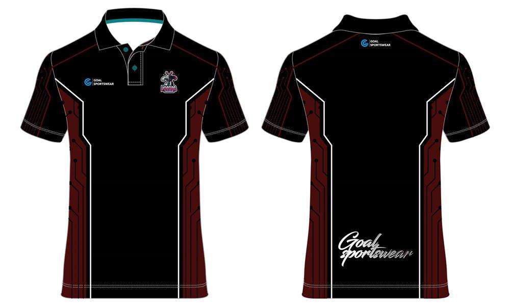 Custom youth black short sleeve Esports polo Jerseys