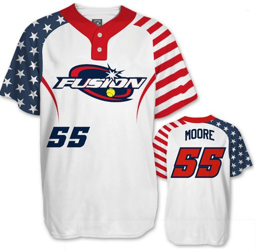 Sublimated adult and youth baseball jersey