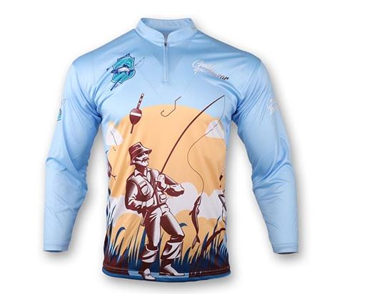 Sublimated fishing jersey