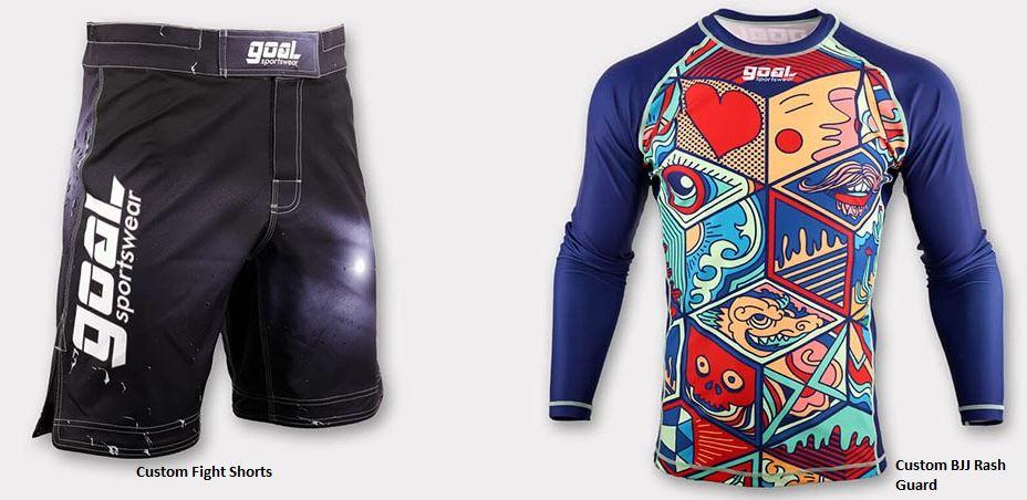 MM Sublimated Shorts and BJJ Rash Guard