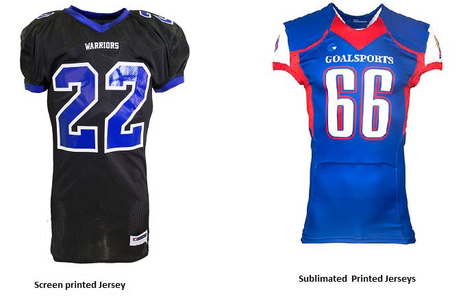 Sublimated vs screen printed jersey