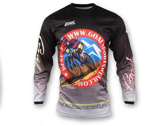 Motocross round neck jersey