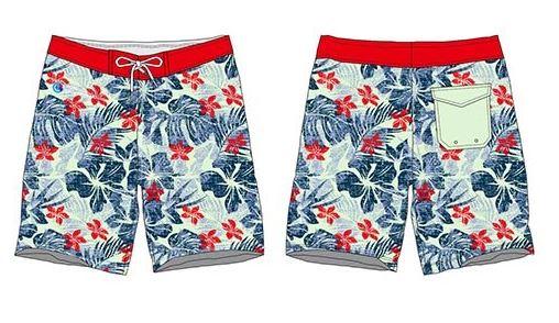 Sublimated board shorts