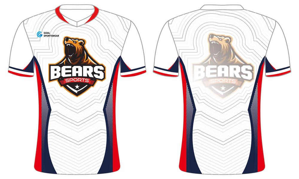 custom full dye sublimated t shirt for esport