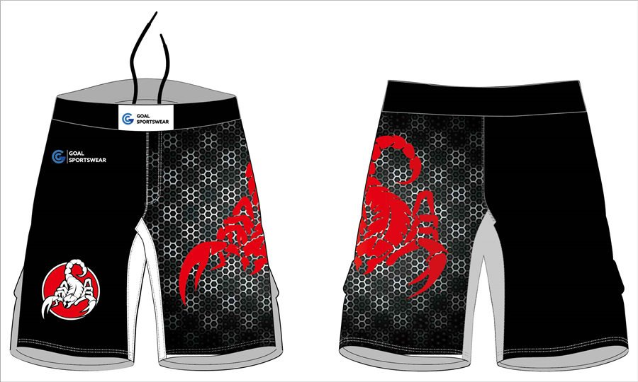 100% Polyester breathable custom design sublimated MMA fight shorts