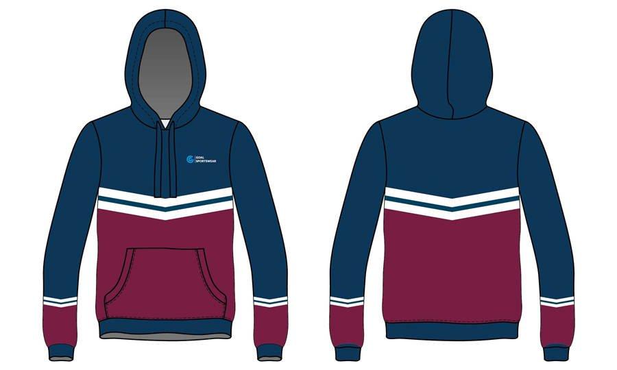 100% polyester fleece sublimation printing custom team hoodies