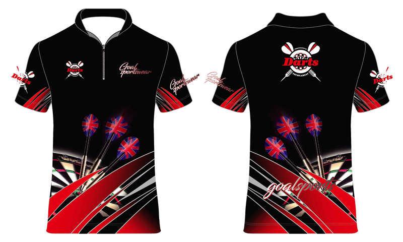 100% polyester sublimation mens custom dart jerseys