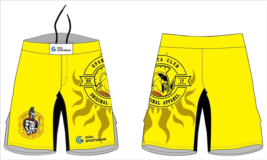 Comfortable polyester spandex sublimation custom made mma workout shorts