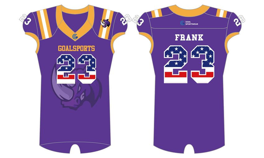 Custom design sublimated youth american football jerseys