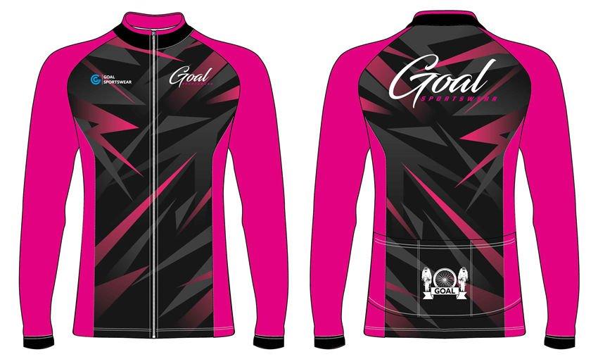 Custom design sublimated youth long sleeve cycling jerseys