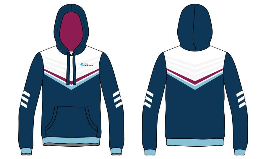Custom made poly fleece sublimated printing pullover hoodies