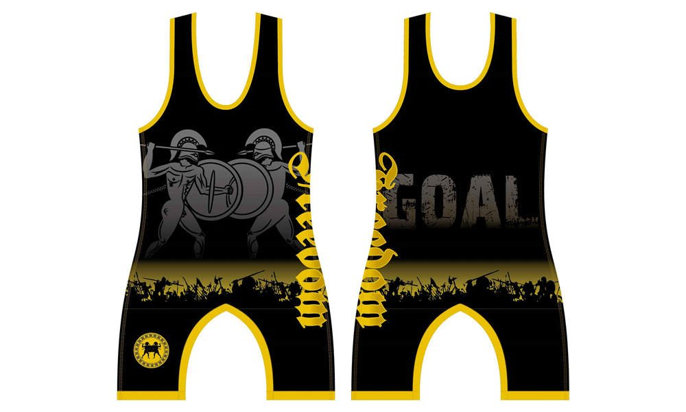 Custom made sublimated printing college wrestling singlets