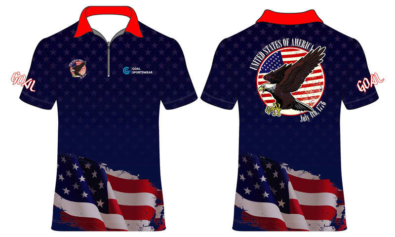 Custom made sublimated printing pro quality dart shirts