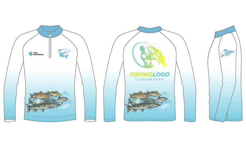 Custom made sublimated printing pro quality fishing jersey