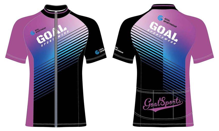 Custom made sublimated printing short sleeve cycling shirts