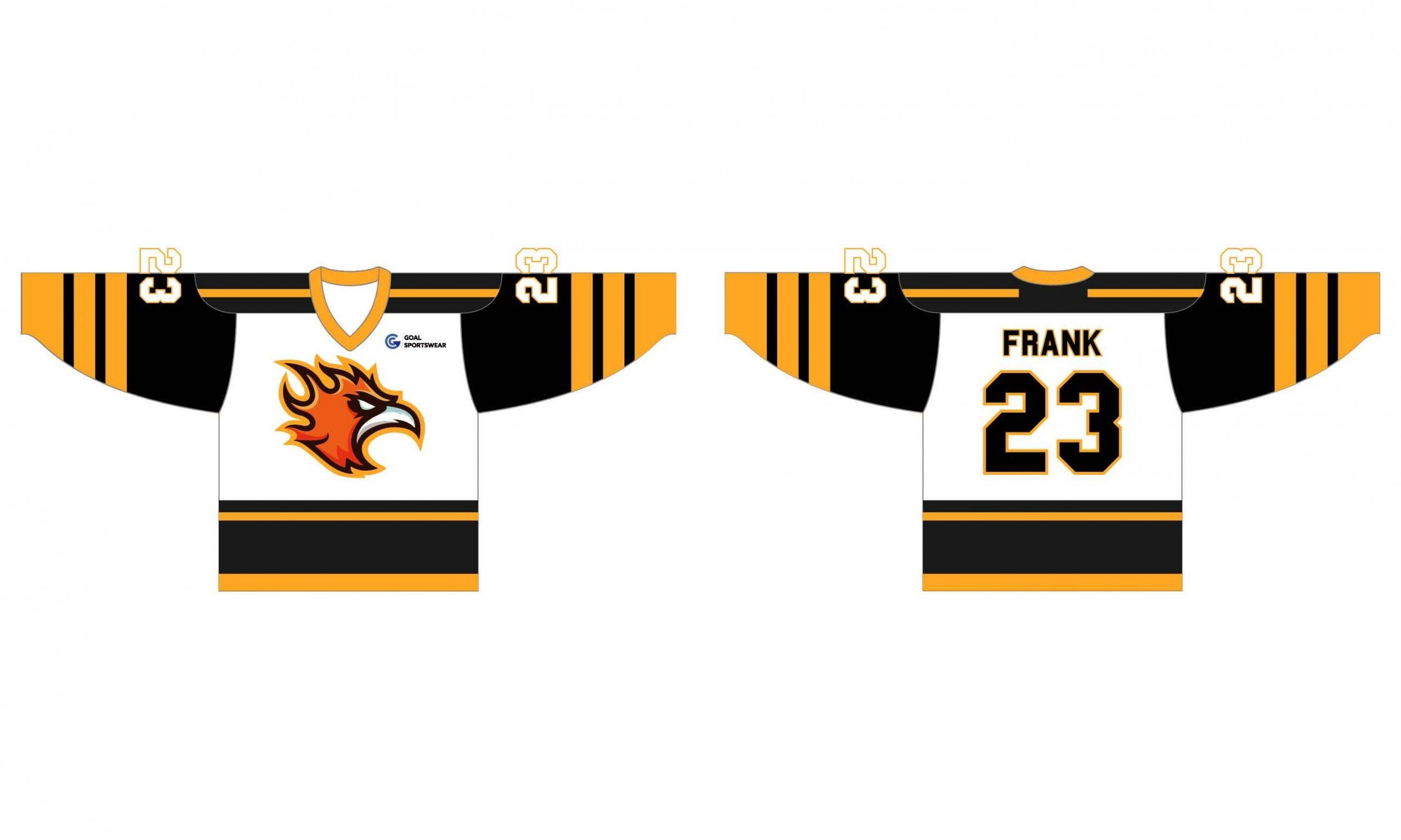 Custom made sublimated pro quality inline hockey jersey