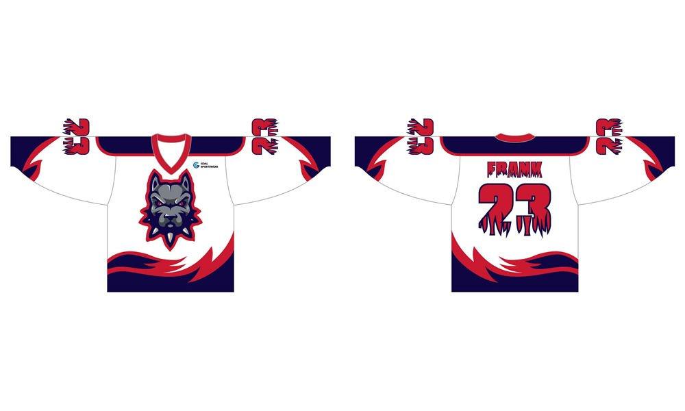 Custom made sublimation printing mens pro hockey jerseys