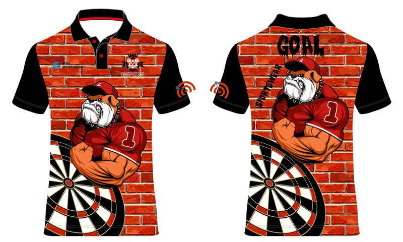 Custom wholesale sublimated printed dart polo jerseys