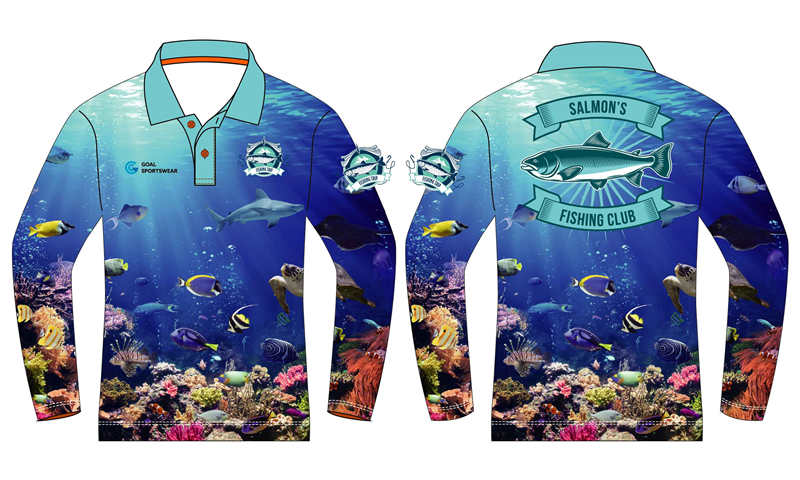 Custom wholesale sublimated printed fishing jerseys