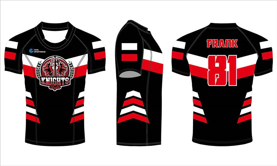 Custom wholesale sublimated printed mens team rugby jerseys