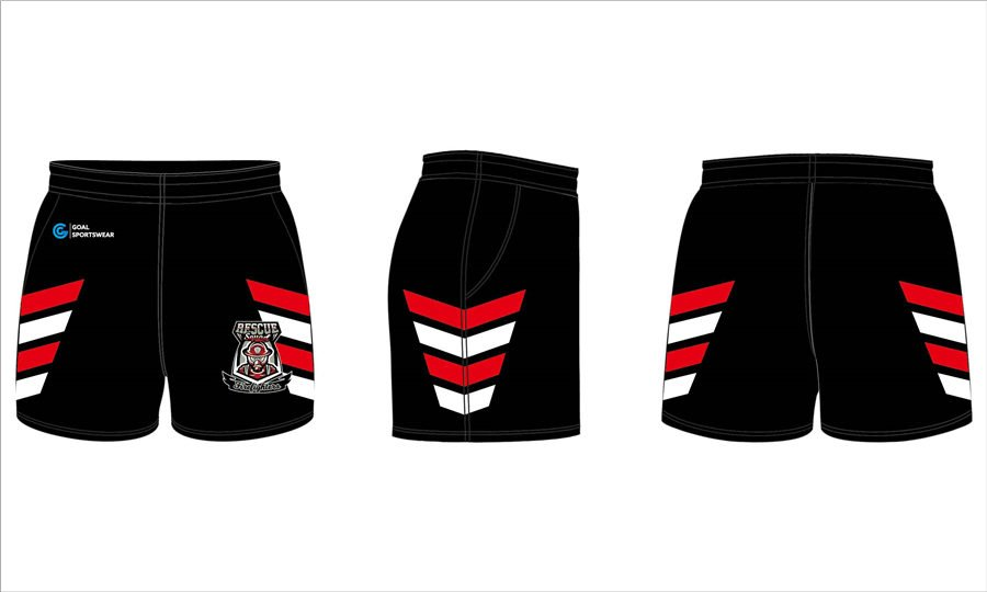 Custom wholesale sublimated printed mens team rugby shorts