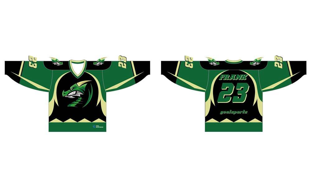 Custom wholesale sublimated printed practice hockey jerseys