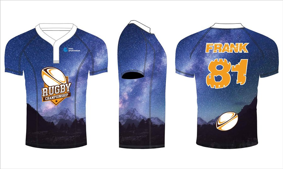 Dye sublimation custom design team commpression cut rugby jerseys