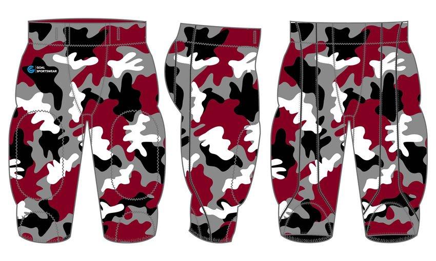 Dye sublimation custom design team football pants uniform