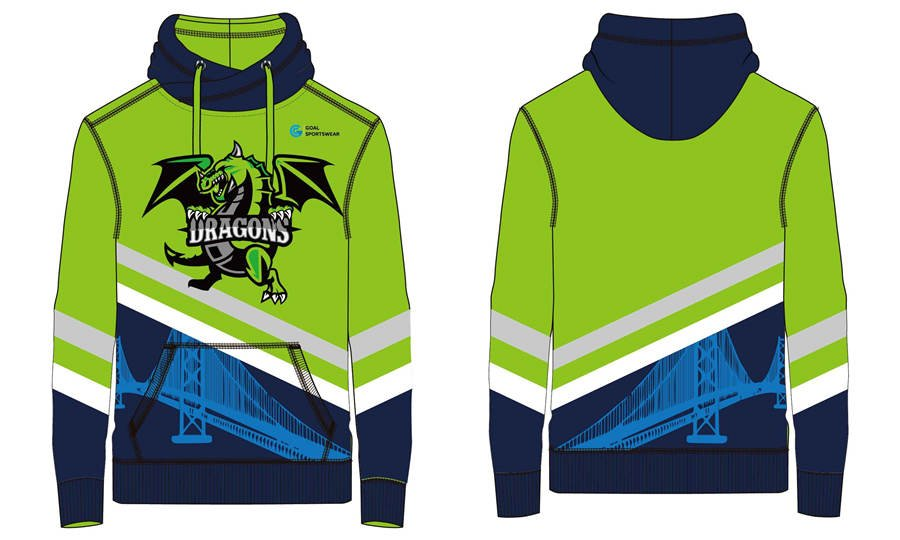 Dye sublimation custom design team hoodies with front pockets