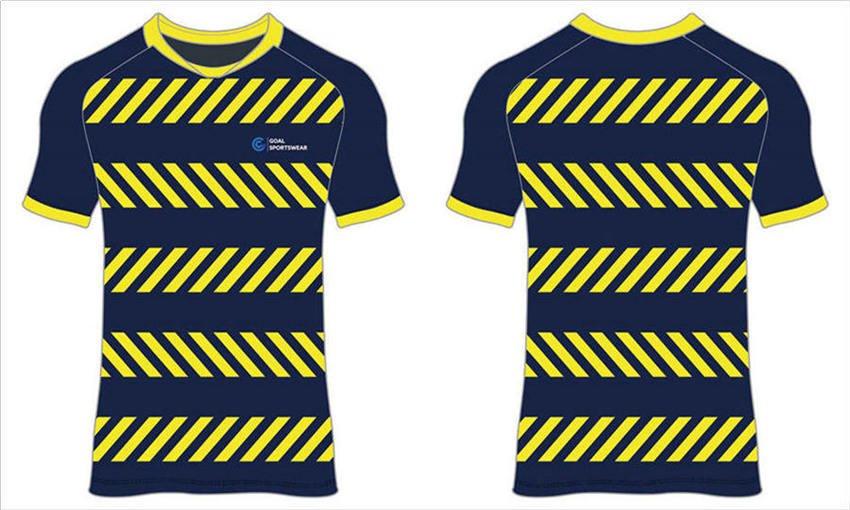Dye sublimation custom design team round neck kids soccer jerseys