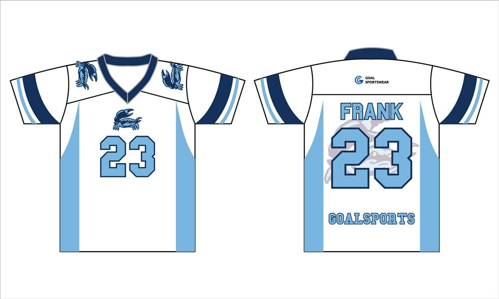 Dye sublimation custom design team short sleeve lacrosse jerseys uniform