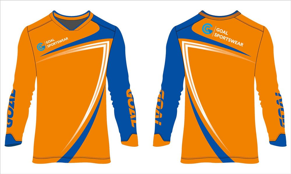 Dye sublimation printing Custom design long sleeve soccer goalkeeper jerseys