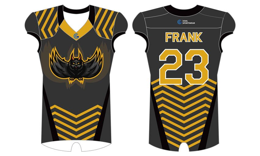 Dye sublimation printing Custom design youth football uniforms