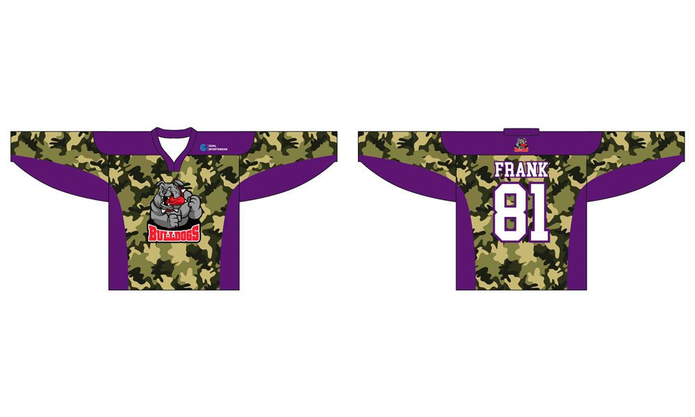 Dye sublimation printing Custom digital camo design hockey jerseys