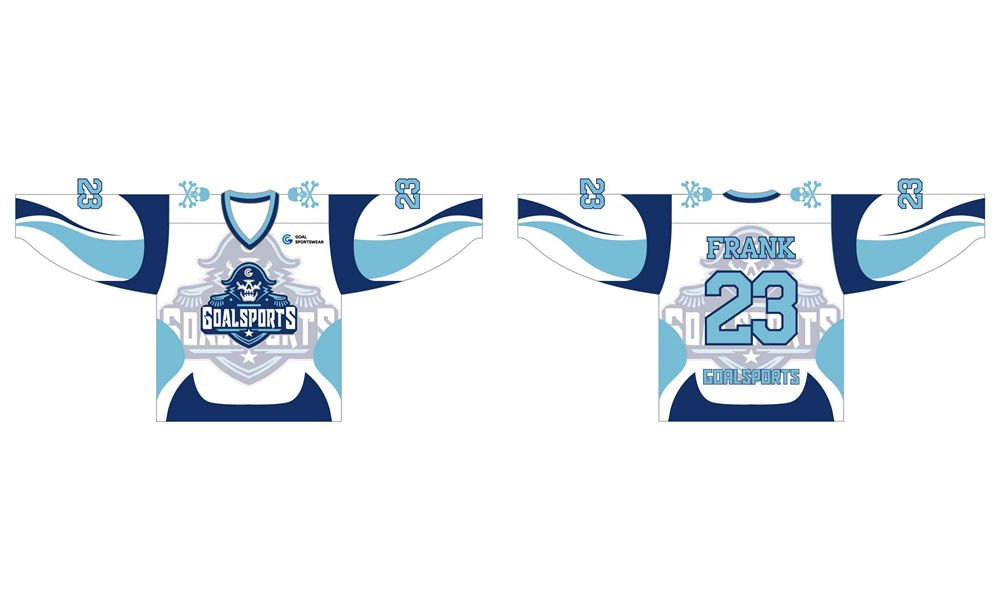 Dye sublimation printing custom design full polyester hockey jerseys