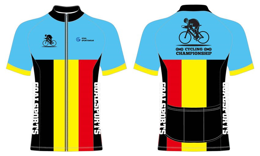 Dye sublimation printing custom design polyester cycling jerseys