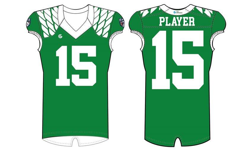 Dye sublimation printing custom design polyester football jerseys