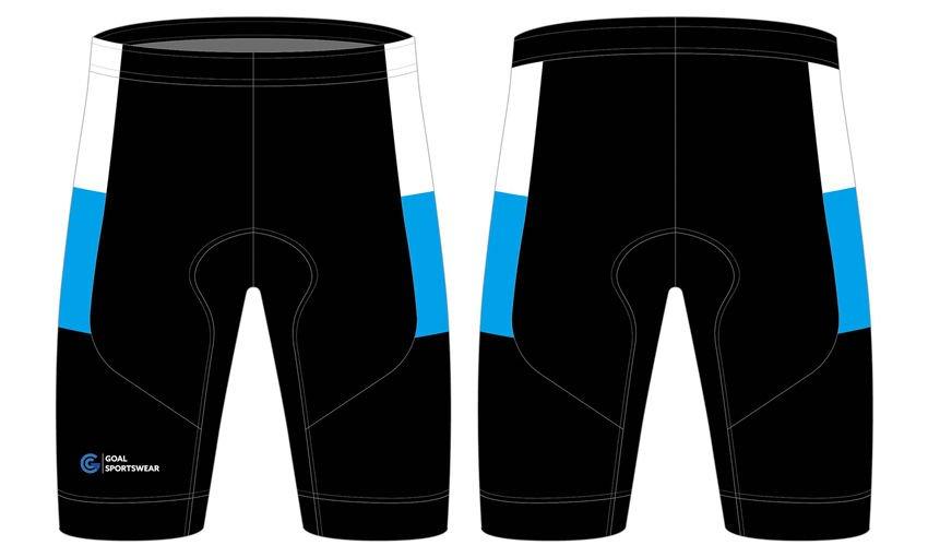 Dye sublimation printing custom design team cycling shorts