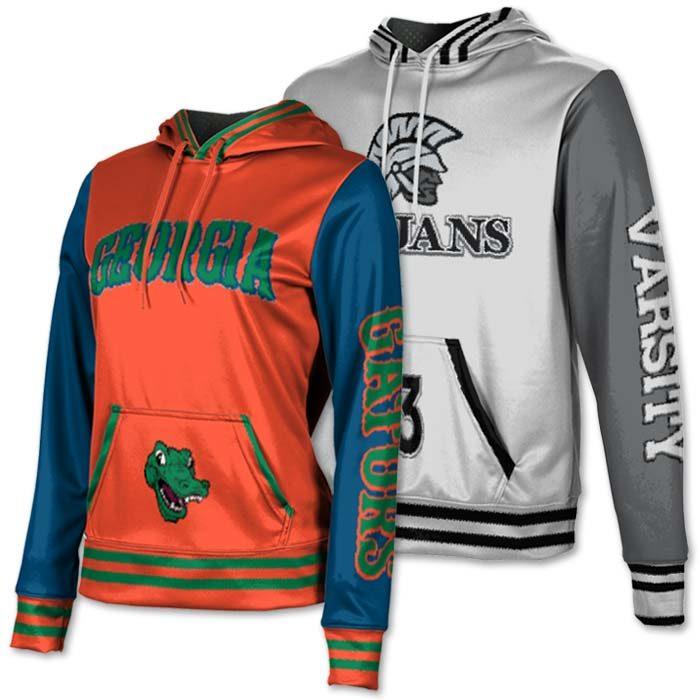 Sublimated team hoodies